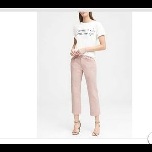 Banana Republic Girlfriend Midrise Pink Jeans, 29L